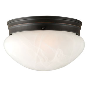 Millbridge Oil Rubbed Bronze Two-Light 9.5-Inch Ceiling Mount