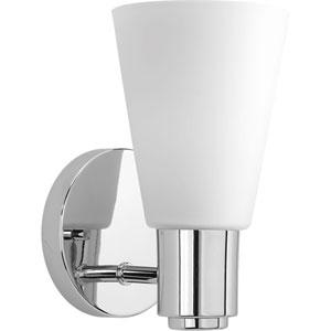 P2154-15: Logic Polished Chrome One-Light Bath Sconce