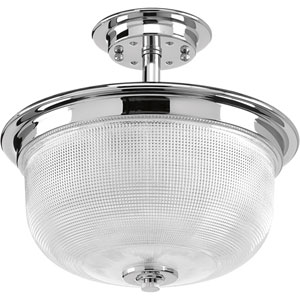 P2334-15: Archie Polished Chrome Two-Light Semi Flush Mount