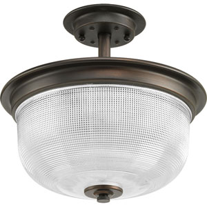 P2334-74: Archie Venetian Bronze Two-Light Semi Flush Mount