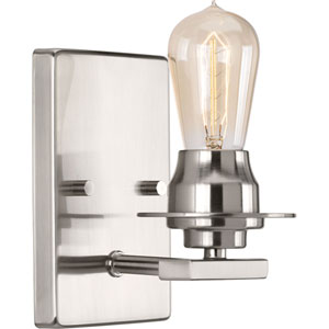 P300008-009: Debut Brushed Nickel One-Light Bath Sconce