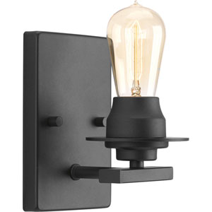 P300008-143: Debut Graphite One-Light Bath Sconce