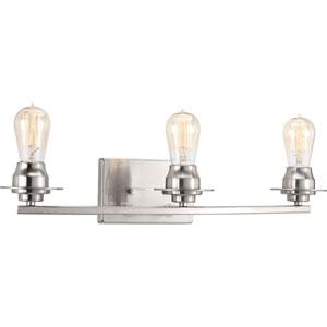 P300010-009: Debut Brushed Nickel Three-Light Bath Sconce