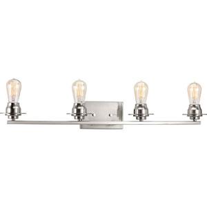 P300011-009: Debut Brushed Nickel Four-Light Bath Sconce