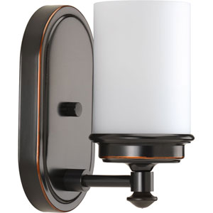 P300012-139: Glide Rubbed Bronze One-Light Bath Sconce
