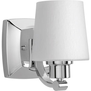 P300016-015: Glance Polished Chrome One-Light Bath Sconce