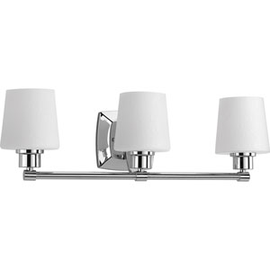 P300018-015: Glance Polished Chrome Three-Light Bath Sconce
