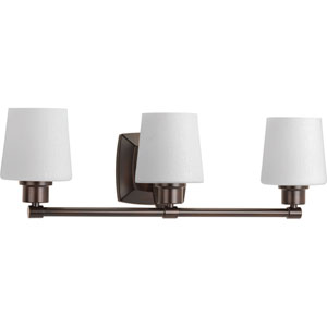 P300018-020: Glance Antique Bronze Three-Light Bath Sconce