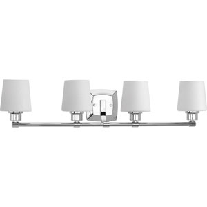 P300019-015: Glance Polished Chrome Four-Light Bath Sconce