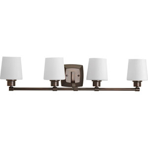 P300019-020: Glance Antique Bronze Four-Light Bath Sconce