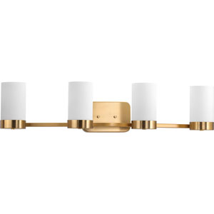 P300023-109: Elevate Brushed Bronze Four-Light Bath Sconce