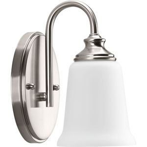 P300024-009: Wander Brushed Nickel One-Light Bath Sconce