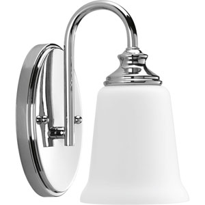 P300024-015: Wander Polished Chrome One-Light Bath Sconce