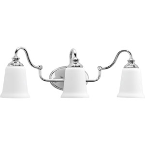 P300026-015: Wander Polished Chrome Three-Light Bath Sconce