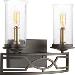 P300036-020: Soiree Antique Bronze Two-Light Bath Sconce