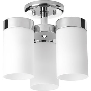 P350040-015: Elevate Polished Chrome Three-Light Semi Flush Mount