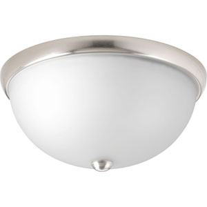 P350044-009: Glass Domes Brushed Nickel Two-Light Flush Mount