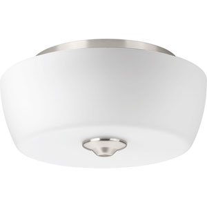 P350061-009: Leap Brushed Nickel Two-Light Flush Mount
