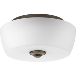 P350061-020: Leap Antique Bronze Two-Light Flush Mount