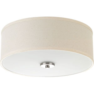 P3713-09: Inspire Brushed Nickel Two-Light Flush Mount