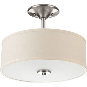 P3712-09: Inspire Brushed Nickel Two-Light Semi Flush Mount