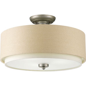 P3890-134: Ashbury Silver Ridge Three-Light Semi Flush Mount
