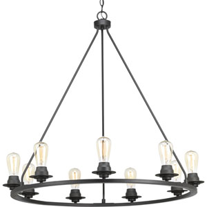 P400016-143: Debut Graphite Nine-Light Chandelier