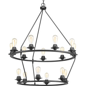 P400017-143: Debut Graphite 15-Light Chandelier