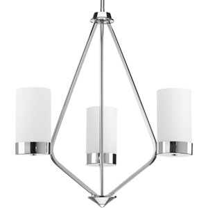 P400021-015: Elevate Polished Chrome Three-Light Chandelier