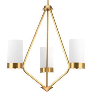 P400021-109: Elevate Brushed Bronze Three-Light Chandelier