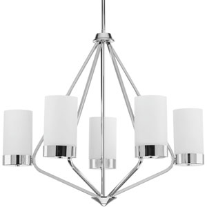P400022-015: Elevate Polished Chrome Five-Light Chandelier