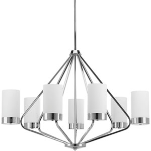 Elevate Polished Chrome Seven-Light Chandelier