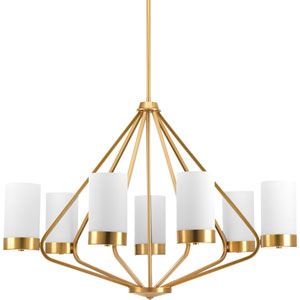 P400023-109: Elevate Brushed Bronze Seven-Light Chandelier