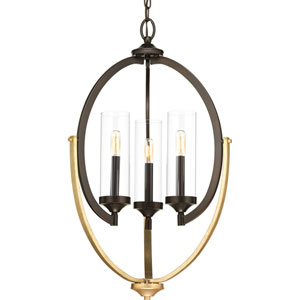 P400024-020: Evoke Antique Bronze Three-Light Chandelier