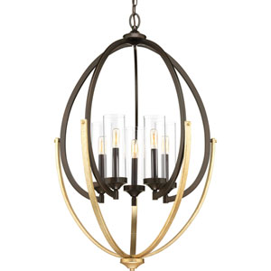 P400025-020: Evoke Antique Bronze Five-Light Chandelier