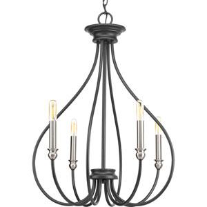 P400029-143: Whisp Graphite Four-Light Chandelier