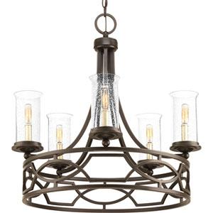 P400037-020: Soiree Antique Bronze Five-Light Chandelier