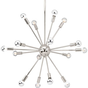 P400041-104: Ion Polished Nickel 16-Light Sputnik Pendant