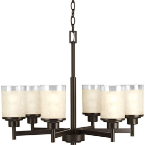 P4758-20: Alexa Antique Bronze Six-Light Chandelier