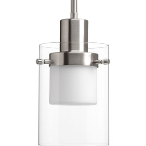 P500000-009-30: Moderna Brushed Nickel Energy Star One-Light LED Mini Pendant