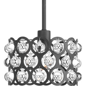 P500003-143: Vestique Graphite One-Light Mini Pendant