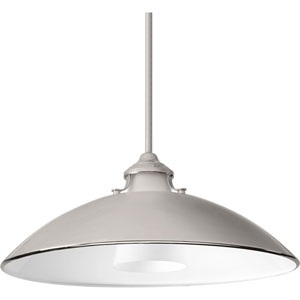P500014-104: Carbon Polished Nickel One-Light Pendant
