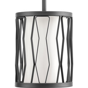 P500016-143: Wemberly Graphite One-Light Mini Pendant