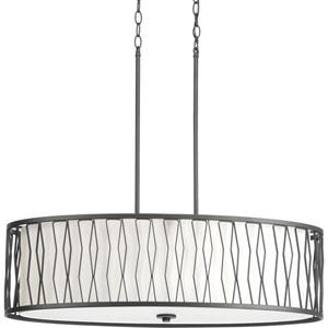 P500017-143: Wemberly Graphite Four-Light Pendant