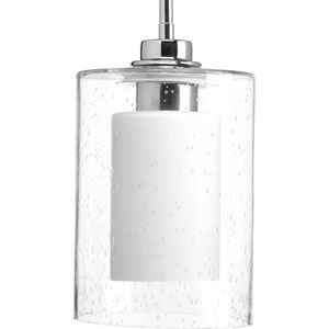 P500018-015: Double Glass Polished Chrome One-Light Mini Pendant
