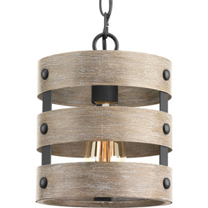 P500022-143: Gulliver Graphite One-Light Mini Pendant