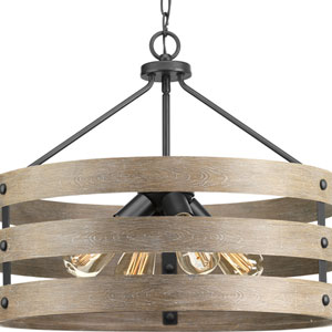 P500023-143: Gulliver Graphite Four-Light Pendant