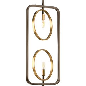 P500028-020: Swing Antique Bronze Two-Light Pendant