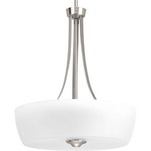 P500030-009: Leap Brushed Nickel Three-Light Pendant