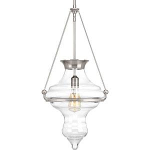 P500031-009: Cazbah Brushed Nickel One-Light Pendant